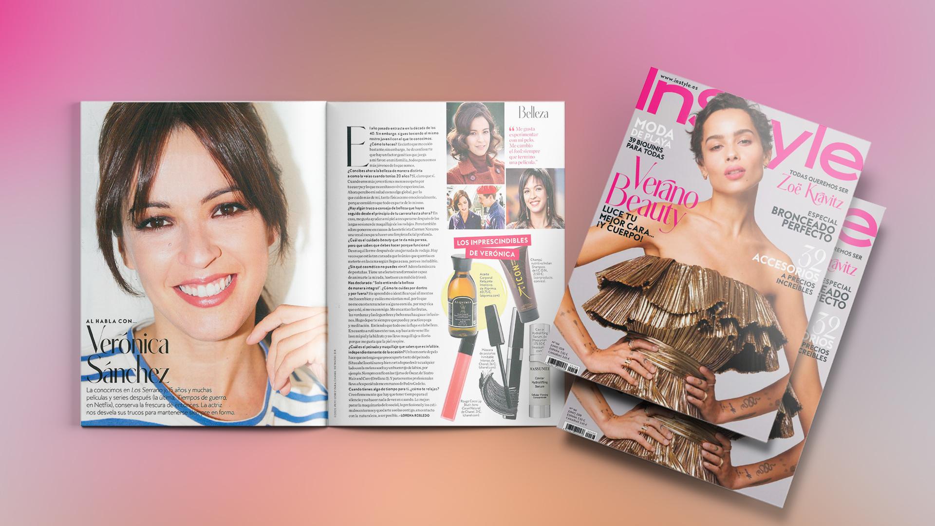 India Shampoo en InStyle Magazine
