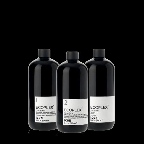 Ecoplex es un sistema de cuidado del cabello que permite la penetración en el córtex del cabello fortaleciendo y multiplicando los enlaces internos.